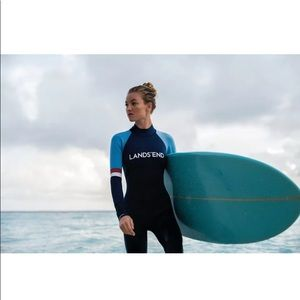 New lands end one piece wetsuit surf suit surfing